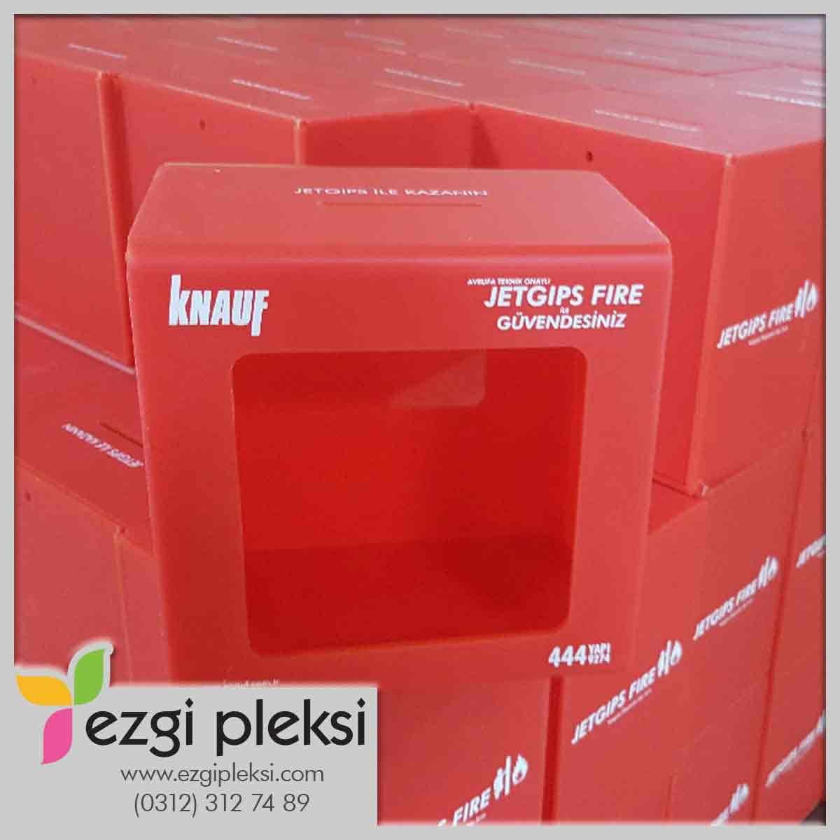 Kırmızı pleksi kutu